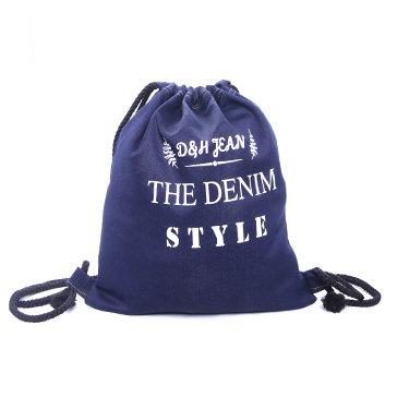 Túi Rút Dây Vải Jean In Chữ Thời Trang