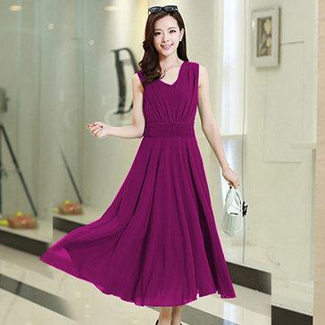 Đầm Maxi Xếp Ly Eo Linda