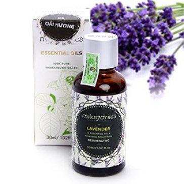 Tinh Dầu Lavender Oải Hương Đậm Đặc Milaganics 30ml