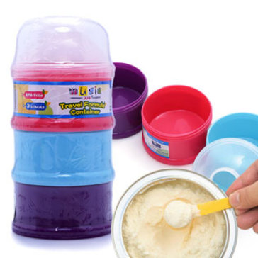 Hộp Đựng Sữa Chia 3 Ngăn Tiện Dụng 16314 - Nhập Khẩu Taiwan