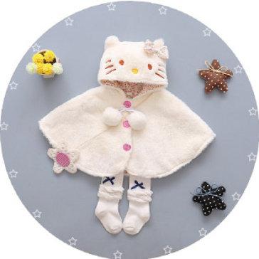 Áo Choàng Hình Mèo Siêu Mềm Giữ Ấm Cho Bé