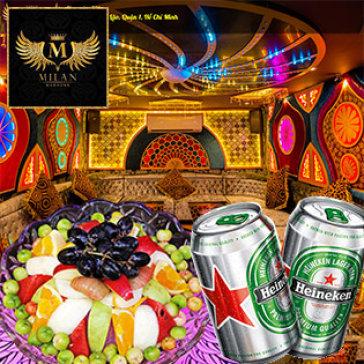 2h Hát + 1 Đĩa Trái Cây Tại Karaoke Milan Sang Chảnh Bậc Nhất Sài Gòn