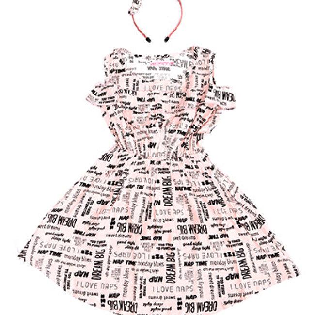 Đầm Bé Gái Nhún Eo Sunny (Tặng Kèm Băng Đô)