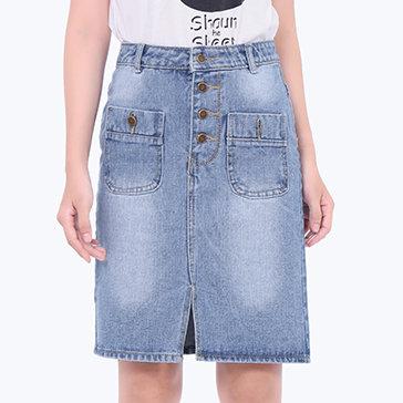 Chân Váy Jean Midi Dạo Phố Cá Tính