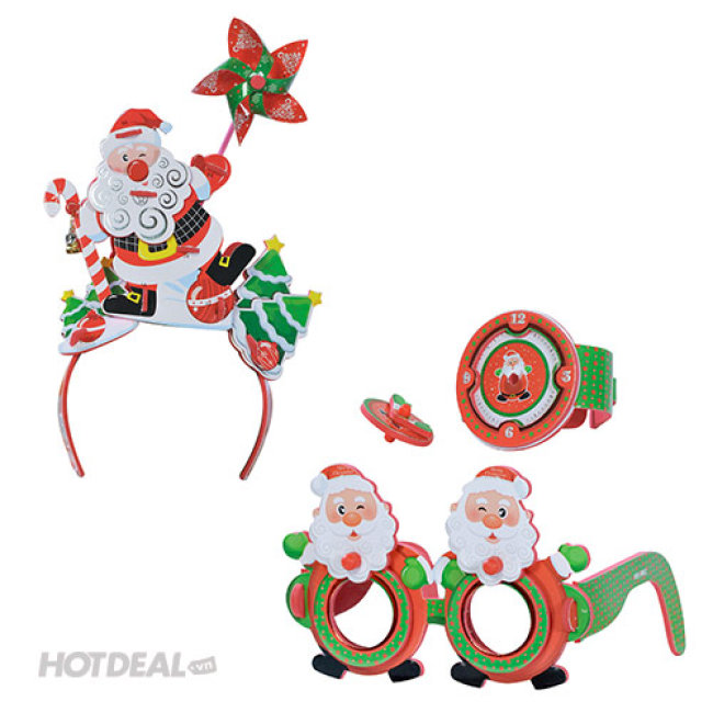 Combo Băng Đô 3D Và 2 Bộ Kính Đồng Hồ 3D Giáng Sinh - Kết Hợp...