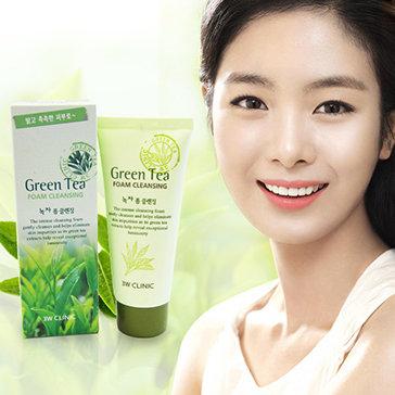 Sữa Rửa Mặt Trà Xanh Ngăn Mụn, Trẻ Hóa Da 3W Clinic Hàn Quốc