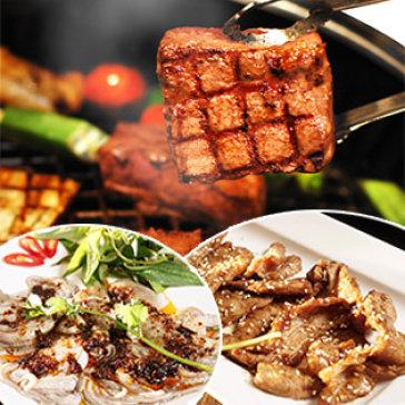 Set Nướng Bò Mỹ, Hải Sản - Free Tráng Miệng Cho 02 Người Tại NH BBQ & Hotpot Cây Gòn