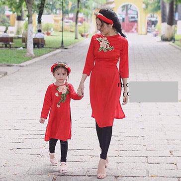Combo Áo Dài Cách Tân Mẹ Và Bé
