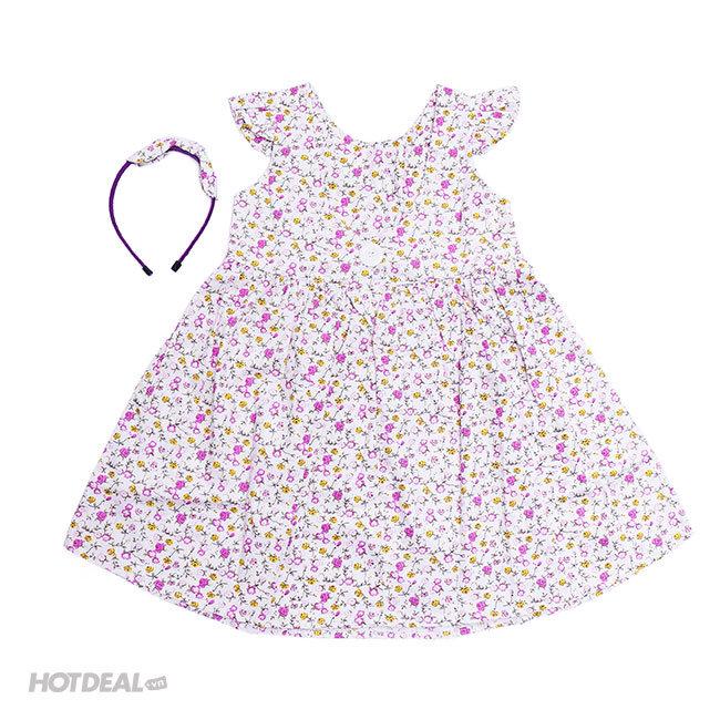 Đầm Bé Gái Cột Nơ Sunny (Tặng Kèm Băng Đô)