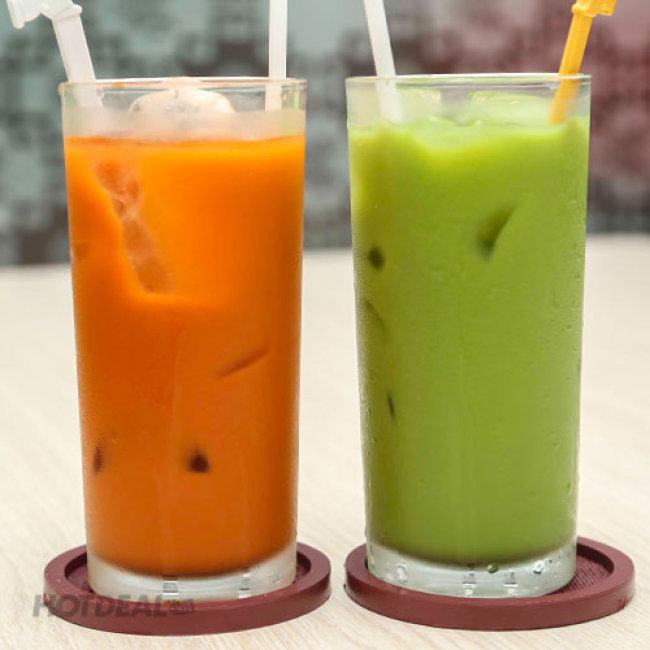 Cơm Gà Da Giòn + Canh Tự Chọn + Trà Sữa Thái + Khăn Lạnh Cho 2...