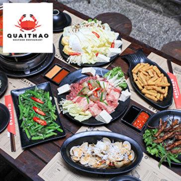 Set Lẩu Kim Chi Bò Thập Cẩm Cho 4 Người Tại Nhà Hàng QuaiThao