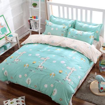 Bộ Drap Cotton Poly Kèm Mền Mát Lạnh Hàn Quốc 1m6x2m Bộ 4