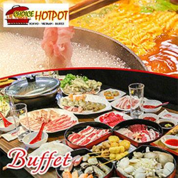 Buffet Trưa Lẩu Nhật, Hải Sản & Bò Mỹ, Free Buffet Kem, Pepsi, Tráng Miệng, Món Ăn Kèm – Choice Hotpot