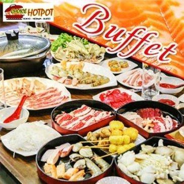Buffet Tối Lẩu Nhật, Hải Sản & Bò Mỹ, Free Buffet Kem, Pepsi, Tráng Miệng, Món Ăn Kèm - Choice Hotpot