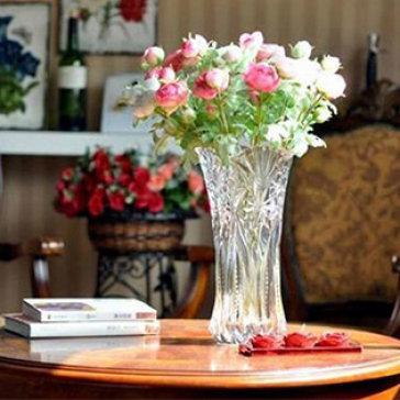 Bình Hoa Thủy Tinh Vân Nổi Size Đại 30cm