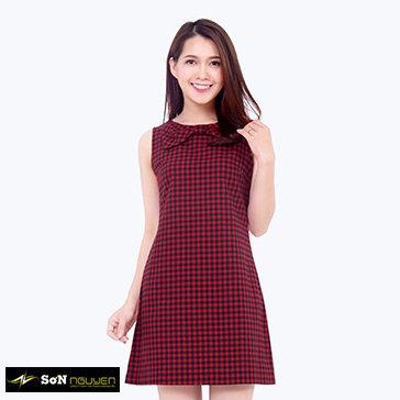 Đầm Nữ Caro Nơ 16150 TH Sơn Nguyễn