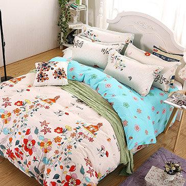 Bộ Drap Bọc Cotton Poly Mát Lạnh Hàn Quốc 1m8x2m Bộ 10