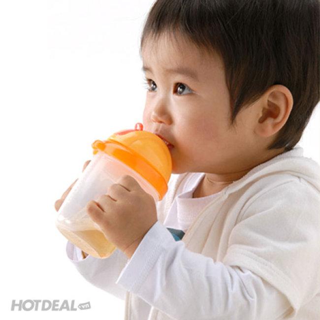 Bình Uống Nước Ống Hút Nắp Bật Pur 250Ml NK Thái Lan (9005)
