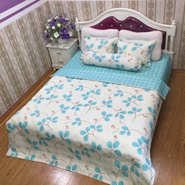 Bộ Drap Gối Cotton Polyester HQ 1.6M BST004 Lys At Home