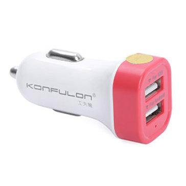 Sạc Điện Thoại 2 Cổng USB Dành Cho Xe Hơi Konfulon