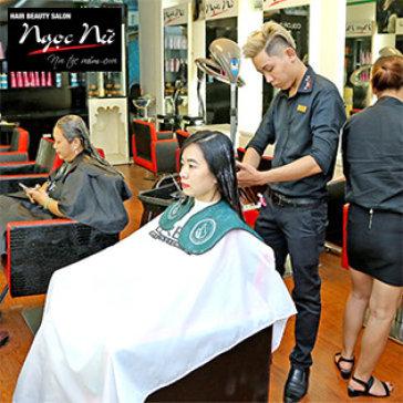 Uốn/Duỗi/Nhuộm + Cắt, Gội, Sấy, Tạo Kiểu + Hấp Dầu Chuyên Nghiệp Tại Hair Beauty Salon Ngọc Nữ
