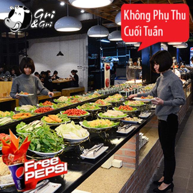 Buffet Cao Cấp - Lẩu Nướng Không Khói Nhà Hàng Gri & Gri - Trần...