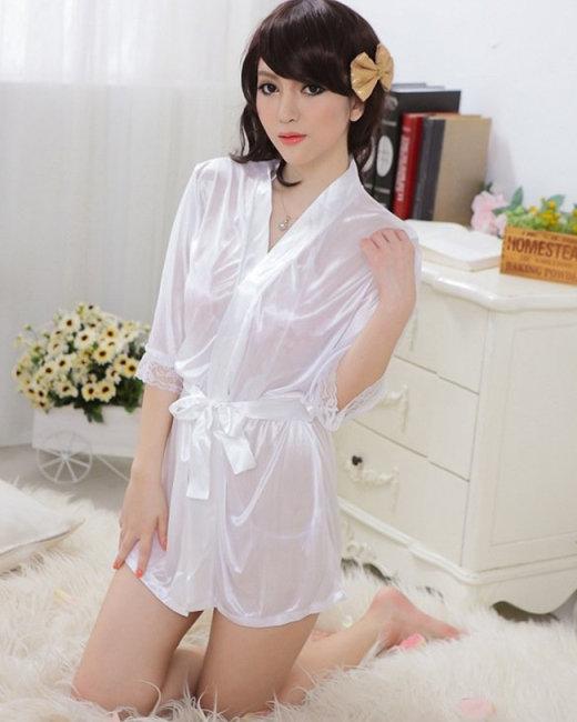 Đầm Ngủ Khoác Phi Bóng Kèm Quần Chip
