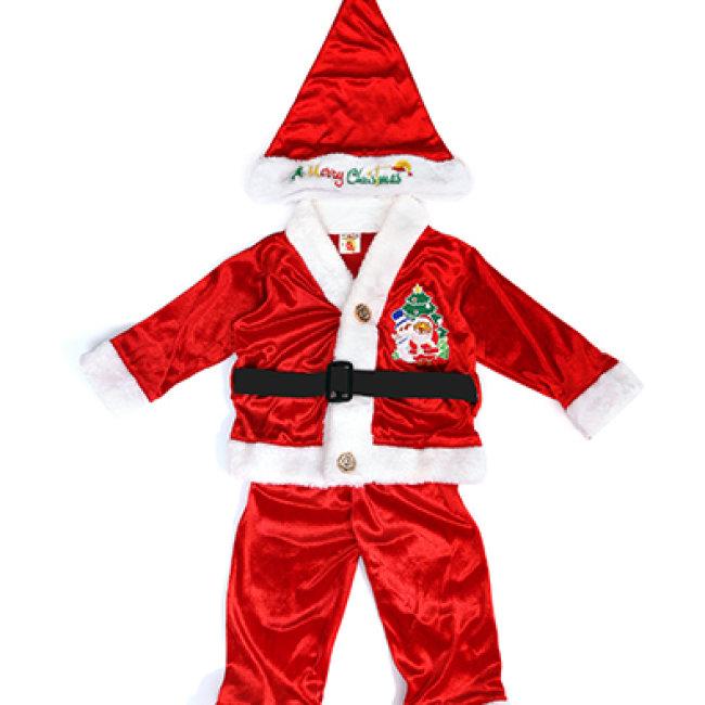 Combo Bộ Quấn Áo In Ông Già Noel + Nón Noel Cho Bé