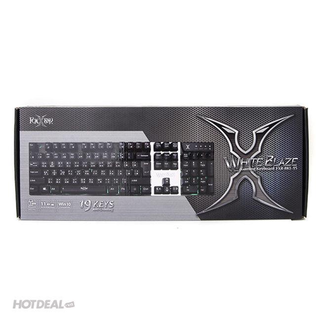 Bàn Phím Chơi Game Foxxray White Blaze FXR-BKL-15
