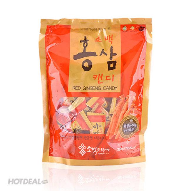 Combo 2 Bịch Kẹo Hồng Sâm 6 Năm Sobaek 200gr/ Bịch