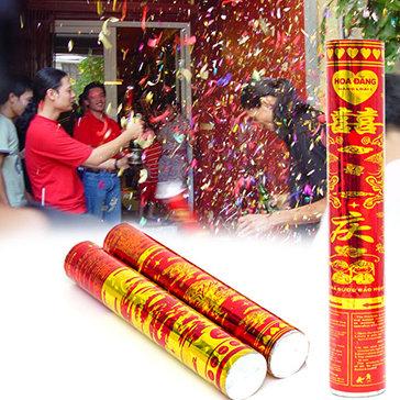 Combo 02 Ống Pháo Hoa Giấy Mừng Lễ Siêu Đại 80cm