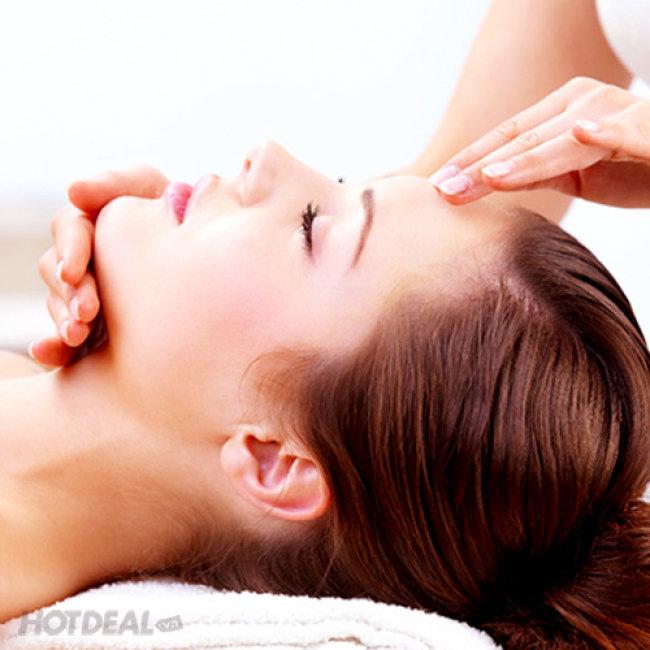 Xông Hơi Đá Muối Kết Hợp Gội Đầu Massage Dưỡng Sinh Kèm Đồ...