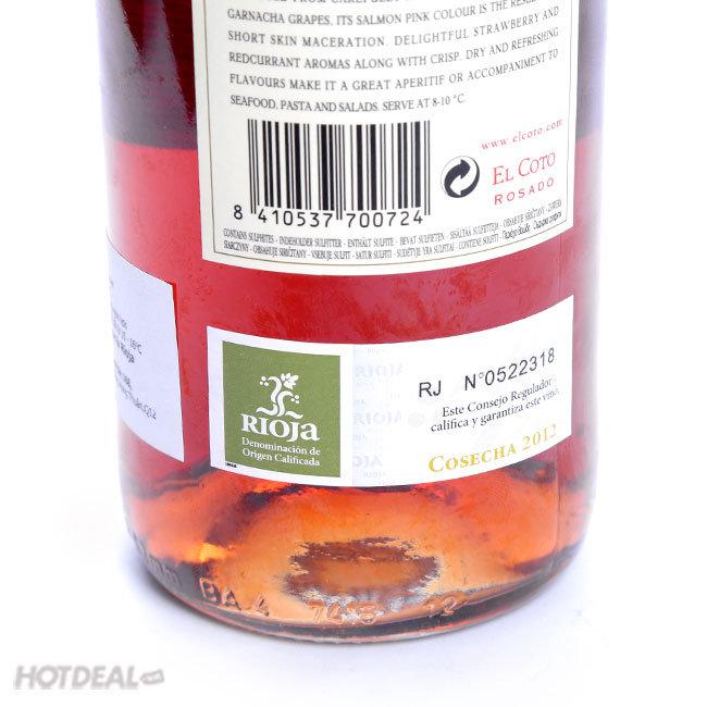 1 Chai Rượu Vang Hồng Dòng El Coto Nhập Khẩu Tây Ban Nha