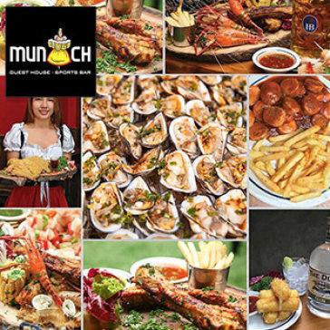 Buffet Hải Sản, Tôm, Ốc, Bò Nướng Ăn Cua Ghẹ Thả Ga Nhà Hàng Munich