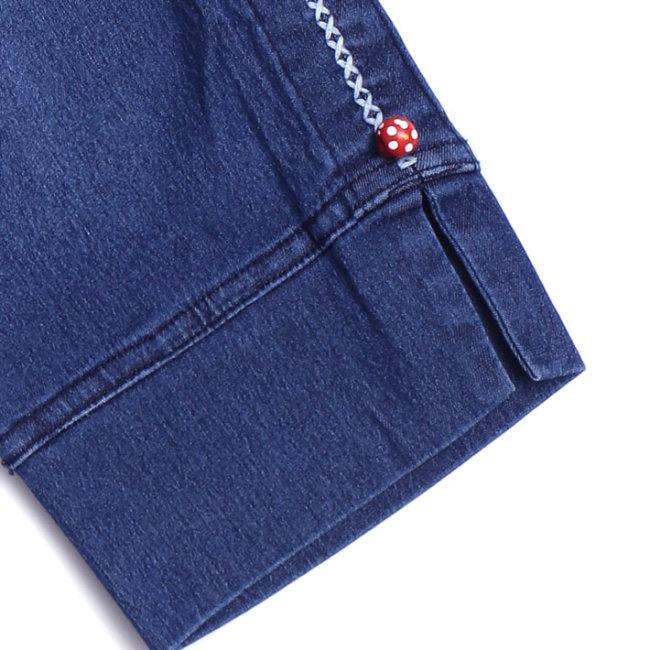 Quần Jeans Xếp Ly Sườn Cho Bé Gái TH YF (5QX042)