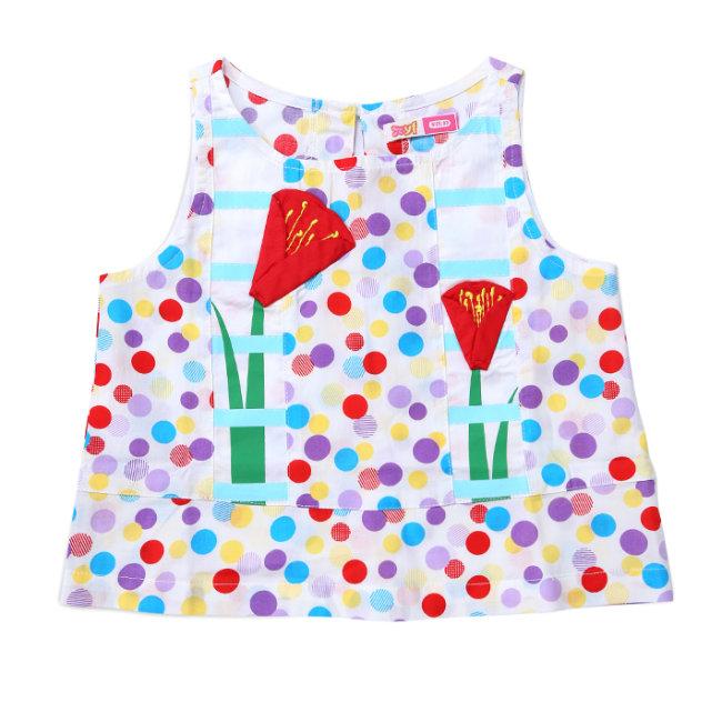 Áo Kiểu Hoa Tulip Bé Gái T.H YF (5AX071)