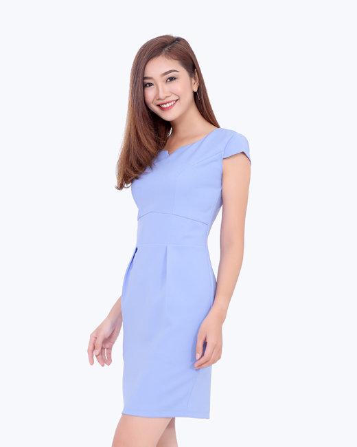 Đầm Công Sở Bo Eo Thanh Lịch