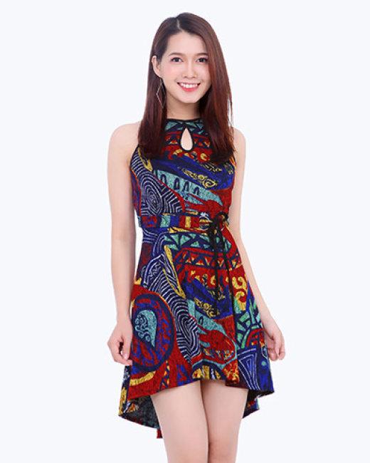 Đầm Mullet Cổ Yếm Thời Trang
