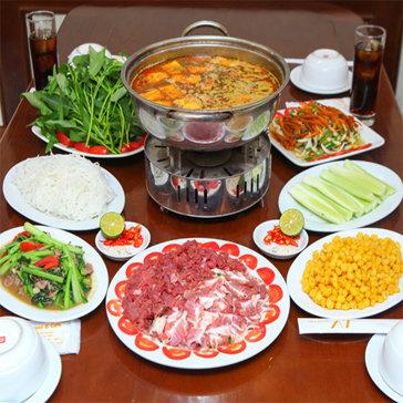 Lẩu Riêu Cua Bắp Bò Sườn Sụn Và Món Ăn Kèm Cho 4 Người Tại Nhà Hàng AT Restaurant