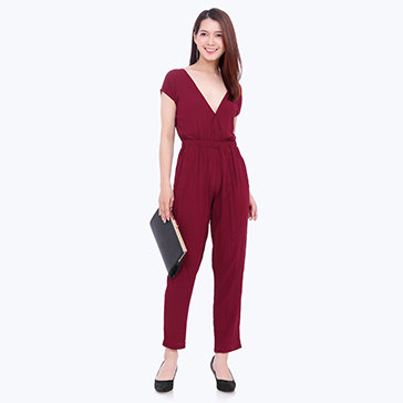 Jumpsuits Cổ V Fashion