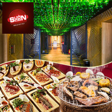 Buffet Trưa Bò Mỹ & Hải Sản Nướng Đẳng Cấp 5* View Phố Đi Bộ Cực Đẹp - NH Sườn No.1 Nguyễn Huệ