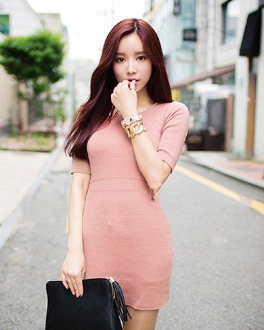 Đầm Body Len Thun Gân Sắc Màu