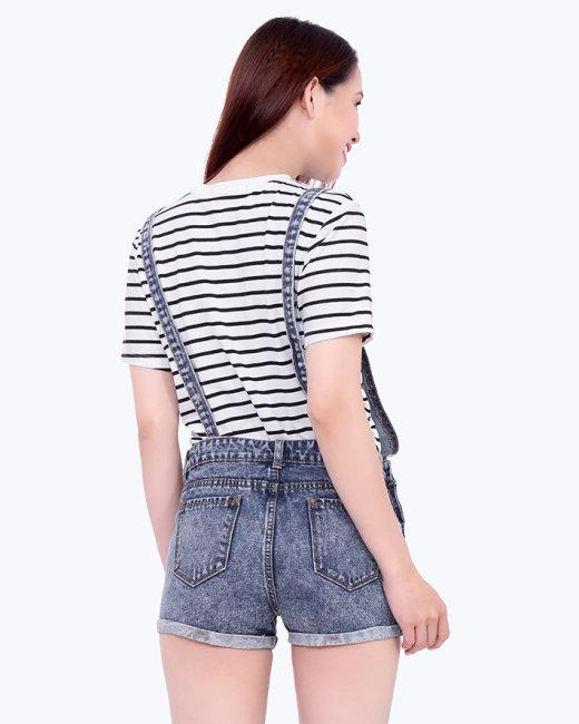 Set Quần Yếm Jean + Áo Thun