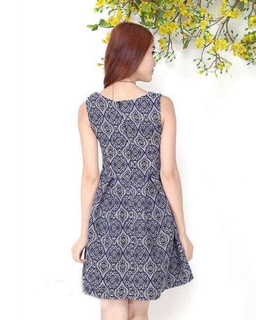 Đầm Xòe Thổ Cẩm Form Chuẩn