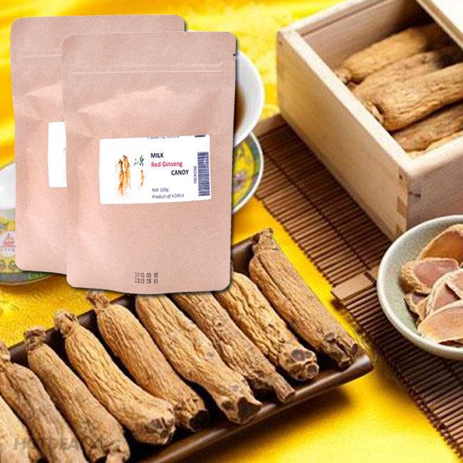 Combo 2 Bịch Kẹo Hồng Sâm Sữa Gooda Gooda Hàn Quốc (100g/ Bịch)