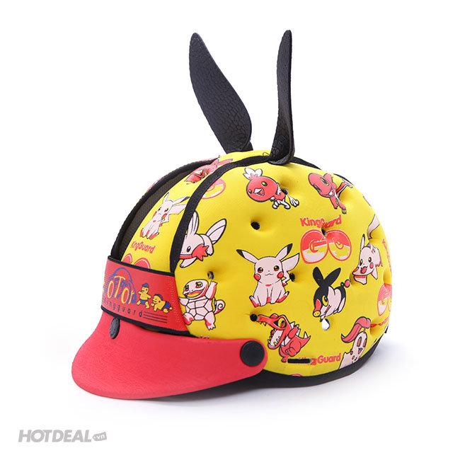 Nón Bảo Hiểm Pokemon, Doremon, Chó Đốm Xuất Mỹ Có Vành Softguard