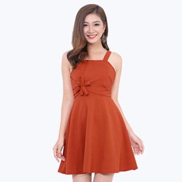 Đầm Xòe Kết Hoa New Fashion