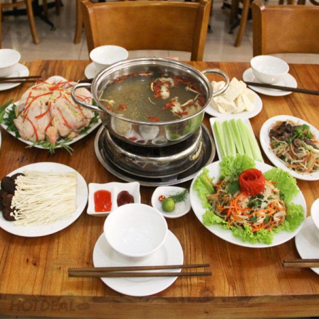 Set Liên Hoan Đầy Đặn Cho 04 Người Tại Nhà Hàng Chèo Cuisine