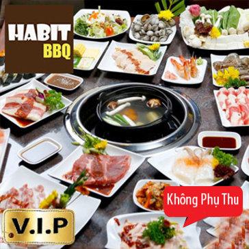 Buffet Lẩu Nướng Menu Vip Tại Nhà Hàng Habit BBQ
