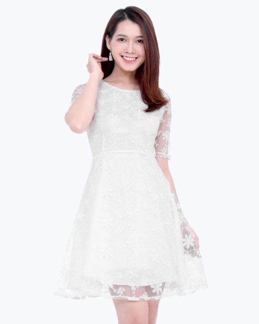 Đầm Xòe Ren Lilly